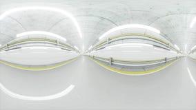 360 βαθμοί πανοράματος αυτόματη σήραγγα, γρήγορα που οδηγεί τρισδιάστατη απόδοση Στοκ Φωτογραφίες