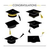Βαθμολόγηση καπέλων συγχαρητηρίων διανυσματική απεικόνιση