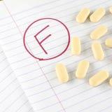 Βαθμός φ με το φάρμακο στοκ φωτογραφία με δικαίωμα ελεύθερης χρήσης