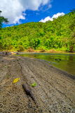 βαθύς δασικός ταϊλανδικός καταρράκτης πάρκων βουνών εθνικός Στο βαθύ δάσος Στοκ Εικόνες