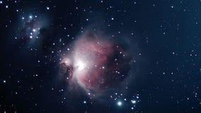 Βαθύς διαστημικός όμορφος νυχτερινός ουρανός νυχτερινού ουρανού νεφελώματος του Orion Στοκ Εικόνες