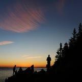 Βαθύς λιμενικός επικεφαλής φάρος, Acadia, εθνικό πάρκο στοκ εικόνες