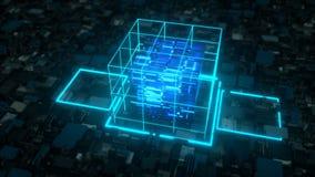Βαθύς υπολογιστής εκμάθησης AI απεικόνιση αποθεμάτων