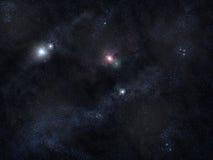βαθύ διαστημικό αστέρι πεδ Στοκ Φωτογραφία
