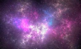 Βαθύ διαστημικό νεφέλωμα με τα αστέρια στοκ εικόνα