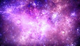 Βαθύ διαστημικό νεφέλωμα με τα αστέρια Στοκ φωτογραφία με δικαίωμα ελεύθερης χρήσης