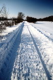 βαθύ οδικό χιόνι στοκ εικόνες