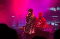 Βαθύ πρόγραμμα ζώνης στη νέα συναυλία παραμονής ετών Στοκ Φωτογραφίες