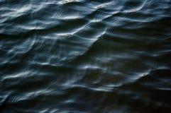 Βαθύ σκούρο μπλε υπόβαθρο νερού κυματισμών σύστασης επιφάνειας ποταμών Στοκ φωτογραφία με δικαίωμα ελεύθερης χρήσης