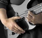 βαθύ χέρι κιθάρων Στοκ Φωτογραφίες