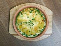 Βακαλάος με τη σάλτσα κρέμας Στοκ εικόνα με δικαίωμα ελεύθερης χρήσης