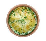 Βακαλάος με τη σάλτσα κρέμας Στοκ Εικόνες