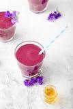 Βακκίνιο, βατόμουρο, αγιόκλημα, honeyberry καταφερτζής με το ιώδες σιρόπι και acai Στοκ φωτογραφία με δικαίωμα ελεύθερης χρήσης