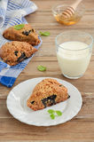 Βακκίνιο scones με whole-wheat το αλεύρι Στοκ Φωτογραφίες