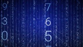 βακκινίων Ψηφιακό τεχνολογικό υπόβαθρο βρόχων Μπλε χρώμα διανυσματική απεικόνιση