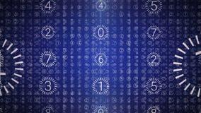 βακκινίων Ψηφιακό τεχνολογικό υπόβαθρο βρόχων Μπλε χρώμα απεικόνιση αποθεμάτων