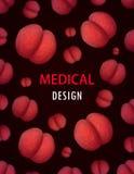 Βακτηρίδια, διανυσματική μόλυνση της βιολογίας φυλλάδιων σχεδίου υποβάθρου κάλυψης ιών απεικόνιση αποθεμάτων