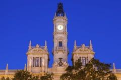 Βαλένθια Δημαρχείο Plaza del Ayuntamiento στη Βαλένθια Στοκ Φωτογραφία