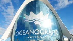 Βαλένθια, Ισπανία - 10 Ιανουαρίου 2018 Η οικοδόμηση του ωκεανογραφικού συγκροτήματος στη Βαλένθια, Ισπανία απόθεμα βίντεο