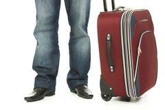 βαλίτσα επιχειρηματιών στοκ εικόνα