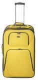 βαλίτσα κίτρινη Στοκ Φωτογραφίες