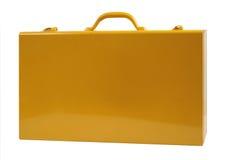 βαλίτσα μετάλλων κίτρινη Στοκ Εικόνες