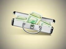 Βαλίτσα με τα δολάρια Στοκ Φωτογραφίες