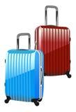 Βαλίτσα που απομονώνεται σε μια άσπρη ανασκόπηση Στοκ εικόνες με δικαίωμα ελεύθερης χρήσης
