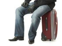 βαλίτσα συνεδρίασης επιχειρηματιών στοκ εικόνα με δικαίωμα ελεύθερης χρήσης