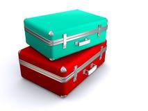 βαλίτσες δύο Στοκ Εικόνα