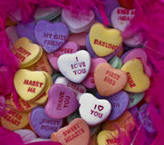 βαλεντίνοι αγάπης καρδιών καραμελών Στοκ εικόνες με δικαίωμα ελεύθερης χρήσης