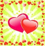 βαλεντίνοι αγάπης καρδιώ&nu απεικόνιση αποθεμάτων