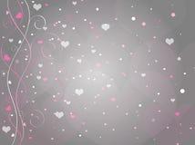 βαλεντίνοι καρδιών ανασκ Στοκ Εικόνες