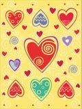 βαλεντίνοι καρδιών ημέρας & διανυσματική απεικόνιση