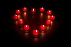 βαλεντίνοι καρδιών μορφής κεριών στοκ φωτογραφίες