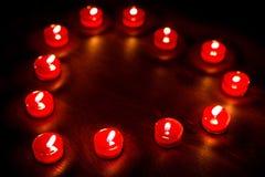 βαλεντίνοι καρδιών μορφής κεριών στοκ εικόνα