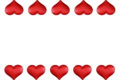 βαλεντίνοι καρδιών συνόρ&omega Στοκ Φωτογραφίες