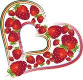 βαλεντίνοι φραουλών ημέρα απεικόνιση αποθεμάτων