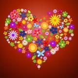 βαλεντίνος άνοιξη λουλ&omi απεικόνιση αποθεμάτων