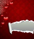 βαλεντίνος αγάπης ανασκό&p Στοκ Εικόνες