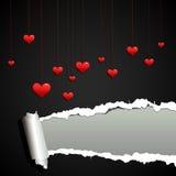 βαλεντίνος αγάπης ανασκό&p απεικόνιση αποθεμάτων