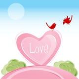 βαλεντίνος αγάπης καρτών π& διανυσματική απεικόνιση