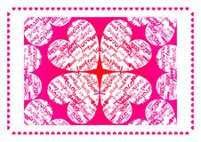 βαλεντίνος αγάπης καρτών Στοκ Εικόνα