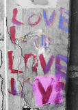 βαλεντίνος γκράφιτι Στοκ Εικόνες