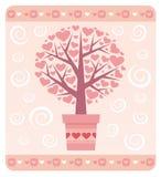 βαλεντίνος δέντρων αγάπης s Στοκ Φωτογραφίες
