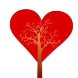 βαλεντίνος δέντρων αγάπης s Στοκ Εικόνα