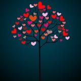 βαλεντίνος δέντρων καρδιώ& ελεύθερη απεικόνιση δικαιώματος