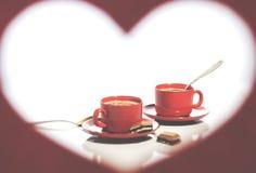 βαλεντίνος ημέρας s καρδιά πλαισίων μορφής Στοκ εικόνες με δικαίωμα ελεύθερης χρήσης