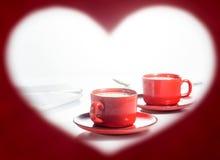 βαλεντίνος ημέρας s καρδιά πλαισίων μορφής Στοκ Φωτογραφίες