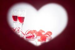 βαλεντίνος ημέρας s καρδιά πλαισίων μορφής Στοκ φωτογραφίες με δικαίωμα ελεύθερης χρήσης